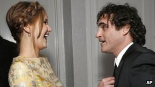 Jennifer Lawrence and Joaquin Phoenix at the Los Angeles Film Critics Association Awards