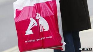 HMV carrier bag