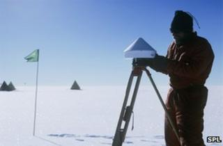 Temperature measurement in West Antarctic, 2005/6