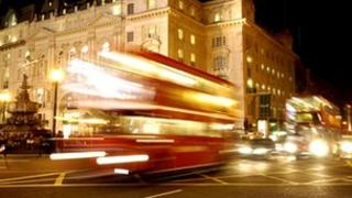 Night buses in London