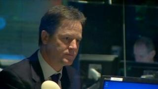 Nick Clegg on the Today programme