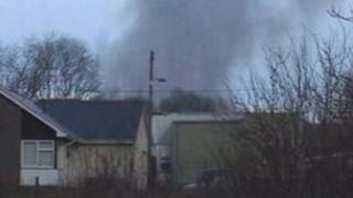 Smoke from the fire in Nantyglo