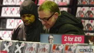 Shoppers in HMV in central London, 15 January 2013