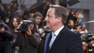David Cameron arrives as last month's European summit in Brussels