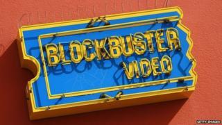 Blockbuster video sign