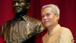 In this Aug. 31, 2005 file photo, Sombath Somphone of Laos, the winner of Ramon Magsaysay Award for Community Leadership in 2005,