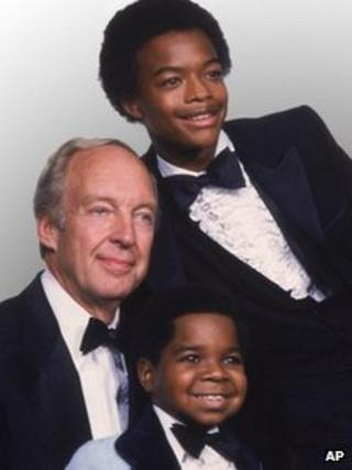 Conraid Bain with Gary Coleman and Todd Bridges, in Diff'rent Strokes