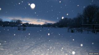 A snowy scene by photographer James Davis