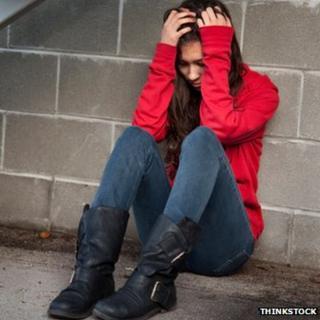 An unhappy young woman
