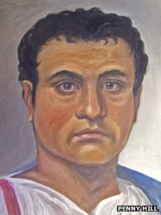 Portrait of a Roman citizen in Caerleon
