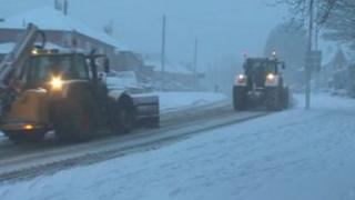 Snow ploughs in Dorset