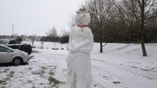 Snowman in St Peters, Worcester