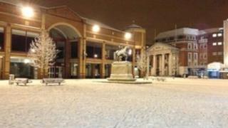 Broadgate in snow