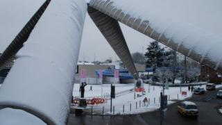 Snow in Millennium Place, Coventry