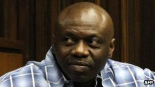 Henry Okah in a court in South Africa on 2 October 2012