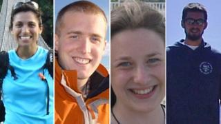 Rachel Majumdar, Christopher Bell, Una Finnegan and Tom Chesters