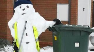 'Snow bin man' by Nathan