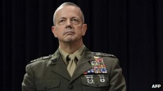 US General John Allen on 10 October 2012