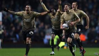Bradford City celebrate