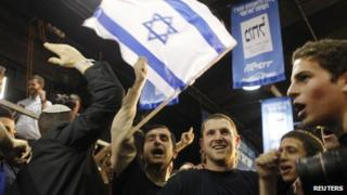 Supporters of Benjamin Netanyahu (22/01/13)