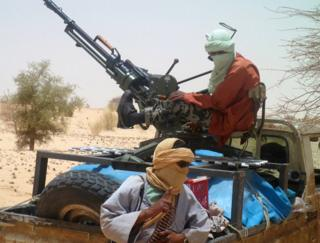 Islamist rebel fighters in northern Mali