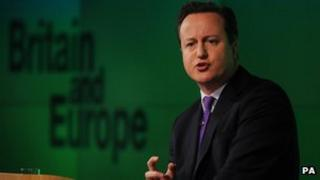 David Cameron delivers speech on the EU
