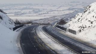 A55 looking towards Llangefni