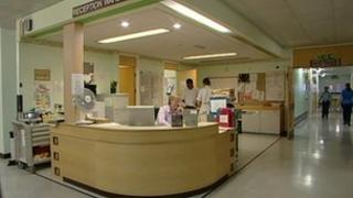 Stafford Hospital reception