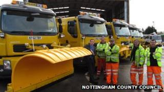 Gritters based at the Gamston depot