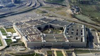 Pentagon building in Washington, DC on 26 December 2011