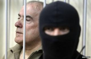 Olexiy Pukach in court in Kiev, 29 January