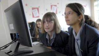 Computer screen in school