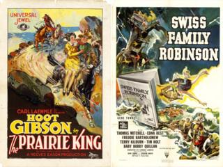 Posters of The Prairie King and Swiss Family Robinson from the Dwight M Cleveland Movie Poster Archive