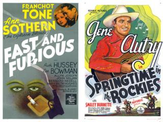 Posters of Fast and Furious and Springtime in the Rockies from the Dwight M Cleveland Movie Poster Archive