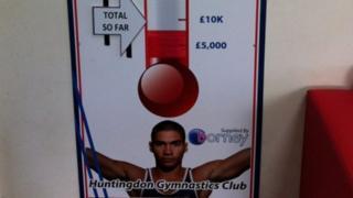 Huntingdon Gymnastics Club's fund-raising board