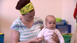 Sam Cooper-Stevens, with mum Kate