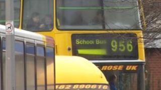 School bus in Hull