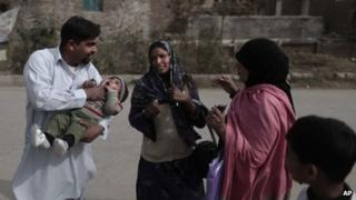Polio workers in Pakistan