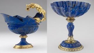 Lapis lazuli bowl and cup
