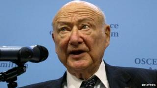File photo of Ed Koch in 2004
