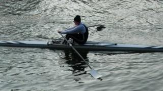Rower on the Thames