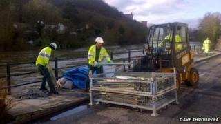 Barriers coming down in Ironbridge