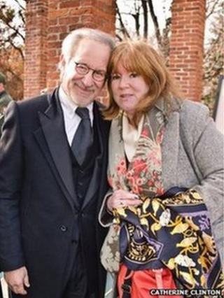 Catherine Clinton and Steven Spielberg.