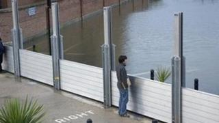 The Frankwell flood barriers