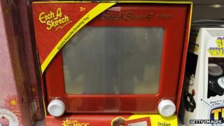 Etch A Sketch on sale in New York in March 2012 (Photo Credit: Timothy A Clary/AFP/ Getty Images)
