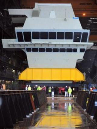 The bridge section of HMS Queen Elizabeth