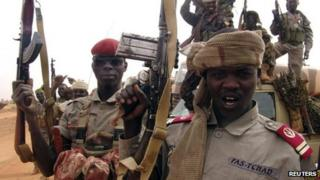Chadian soldiers ahead of their deployment to Mali pictured in Niger - 30 January 2013