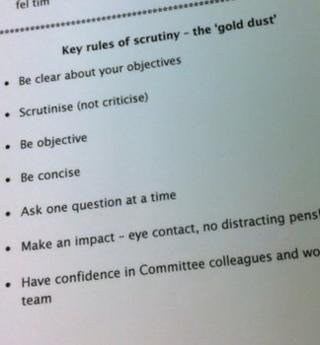 key rules of scrutiny