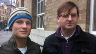 Jamie Bryson and Willie Frazer pictured together on Thursday