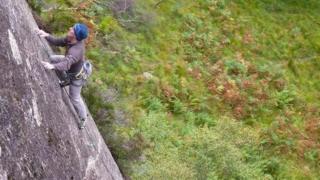 Dave MacLeod on a climb